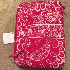 Vera Bradley breast cancer mini laptop case Color is called Twirly Birds pink NEW WITH TAGS !! Comes with strap Vera Bradley Bags Laptop Bags