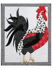 Colorful rooster to quilt for decoration