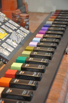 Love these pantone inspired chocolate packages I saw in Paris in 2010.
