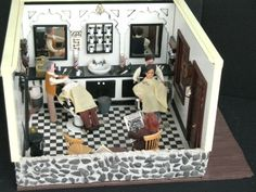 dollhouse miniature barber shop