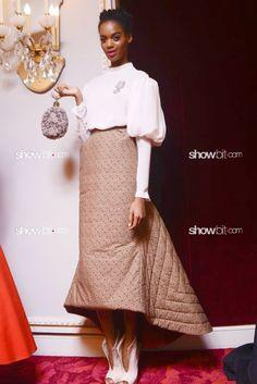Roberta Narciso at Ulyana Sergeenko Haute Couture Fall/2012 Backstage, photo Douglas Bassett