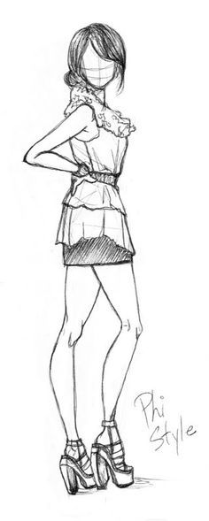 fashion sketches black and white - Google Search