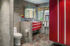 Home Badezimmer Rot