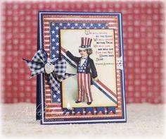 vintage patriotic card - http://www.ewenstyle.com/