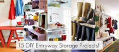 15 DIY Entryway Organizing Projects. by PiaD