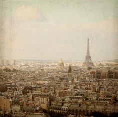 Paris from above - retro styled photography by Elisabeth Perotin