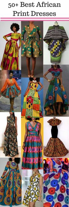 African print dresses can be styled in a plethora of ways. Ankara, Kente, & Dashiki are well known prints. See over 50 of the best African print dresses.