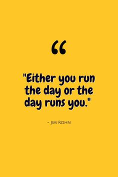 """On that note...happy Monday! """"Either you run the day or the day runs you."""" - Jim Rohn Online Graphic Design, Graphic Design Tools, Tool Design, Create Your Own Quotes, Jim Rohn, Business Quotes, Happy Monday, Quote Of The Day, Social Media Marketing"""