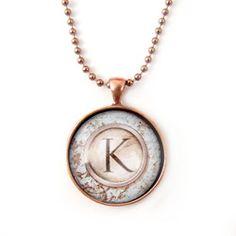 vintage monogram necklace
