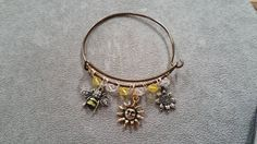 Alex and Ani inspired bracelet with my own by DandEJewelryDesigns