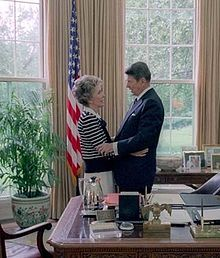 Nancy Davis Reagan (born Anne Frances Robbins; July 6, 1921) is the widow of the 40th President of the United States, Ronald Reagan and was First Lady of the United States from 1981 to 1989.