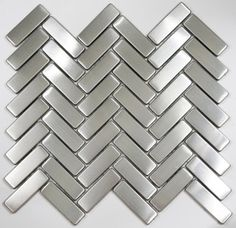 chevron stainless steel backsplash tile, ooooooh love this!!!