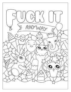 Free Sweary Coloring Pages