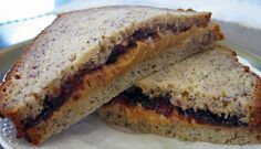 Peanut butter and jelly on banana bread WHY HAVE I NEVER THOUGHT OF THIS