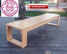 Wood Bench Plans, Garden Bench Plans, Pallet Bench, Build A Bench, Garden Bench Table, Step Bench, Diy Bench Seat, 2x4 Bench, Garden Benches