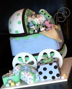 Sculpted Baby Shower Cake by SweetMemoriesBakery.com #baby #babyshower #babyshowerideas #customcakes #bakery #NCbakery #babygifts #expectingmothers