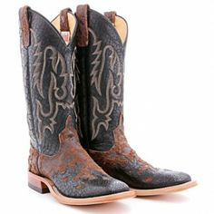 BootDaddy Collection with Anderson Bean Wingtip Nasty Moka Cowboy Boots - Women's Square Toe Boots - Womens Boot Toe - Cowgirl Boots - Boots