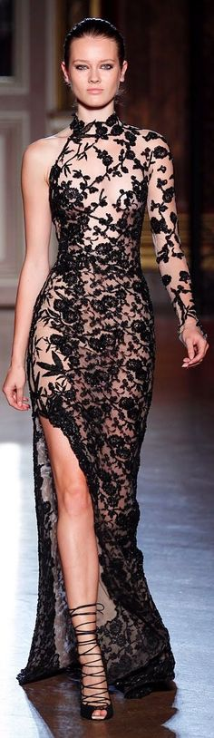 Zuhair Murad Fall/Winter 2011. this dress is gorgeous, but I think its needs to be a little less see through.