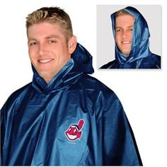 Cleveland Indians Poncho Adult Hooded Rain Poncho - Hopefully won't need this on Opening Day!