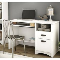 Gascony Computer Desk with Keyboard Tray by South Shore - 7360070