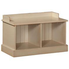 Chelsea Home Furniture 465-227-B Friendship Hall Bench in Buttermilk