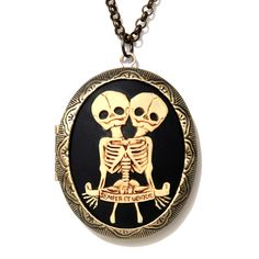 The Twins Cameo Locket...good gift for a gemini