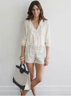 Love an all white outfit for summer