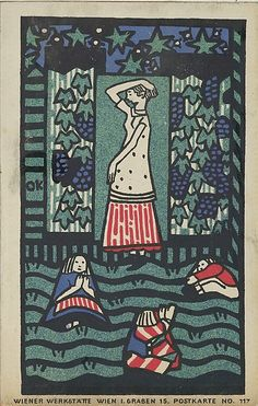 """Woman with Three Children"", 1908, by Oskar Kokoschka (1886–1980)"