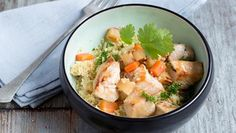 Couscous with chicken Recipes from various programs, categories and regions for cooking. Healthy Eating Tips, Healthy Nutrition, Healthy Recipes, Asparagus Salad, Vegetable Drinks, Dinner Salads, Food Menu, Food And Drink, Teller