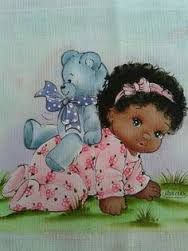 Resultado de imagem para risco de pintura de menina negra em fralda