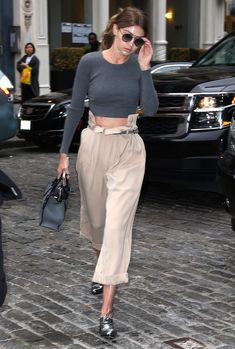 17378c325948 celebstills  Gigi Hadid Outfit Ideas – Shopping at  Color Me Mine  in NYC