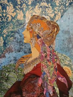 Bohemian Mucha ~ Kanchan Mahon is a self taught artist who works in the medium of hand-cut paper collage. Her art is unusual and unique and she believes this is a result of having no art education. Art Du Collage, Mixed Media Collage, Art And Illustration, Photografy Art, Ouvrages D'art, Wow Art, Medium Art, Textile Art, Altered Art