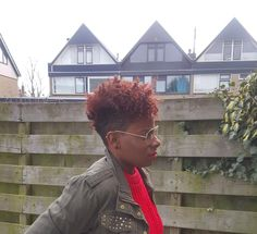 Tapered cut #twistout #red #shave #frohawk #ecostyler #coconutoil #lottabody #naturel #black #undercut