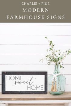 Home Sweet Home Sign, Farmhouse Wall Decor, Family Room Sign Modern Farmhouse Decor, Farmhouse Style Decorating, Farmhouse Signs, Rooms Home Decor, Home Decor Shops, Home Decor Inspiration, Decor Ideas, Luxury Homes Interior, Interior Design