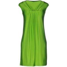 Plein Sud Par Fayҫal Amor Short Dress (£146) ❤ liked on Polyvore featuring dresses, acid green, green mini dress, green dress, mini dress, stretchy dresses and green jersey dress