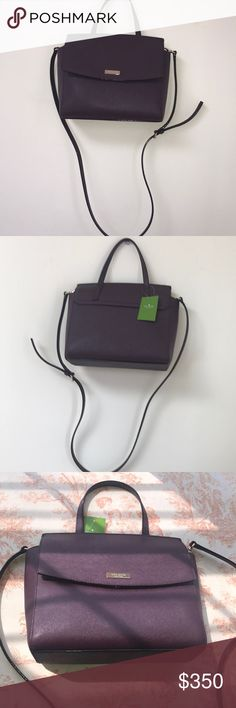 Kate Spade Alisanne Crossbody Bag Kate Spade Alisanne Crossbody Bag  NWT Gold Detail With Hardware On Bag Like Kate Spade Logo & Snaps Main Part Of Bag Has A Fold-over Snap Closure One Small Handle Permanently Attached To Bag Crossbody Strap Is Removable Zippered Pocket Inside Color Is Mahogany  Original Value Is $359 kate spade Bags Crossbody Bags