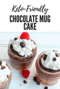 Your sweet tooth with thank you for this! Yes, these keto chocolate mug cakes taste as good as they look! | Pretty Handy Girl | #prettyhandygirl #ketorecipe #ketodiet #ketocake #ketochocolatemugcake