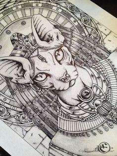 This but of Ramona! For a tattoo on my leg Anubis Tattoo, Bastet Tattoo, Cat Tattoo, Tattoo Drawings, Art Drawings, Hamsa Tattoo, Kunst Tattoos, Body Art Tattoos, Design Tattoo