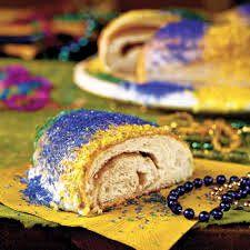 Traditional Mardi Gras King Cake