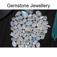 Natural Blue Flash Mix Shape loose Rainbow Moonstone Gemstone | Etsy