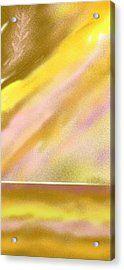 Feather Sun Lake Acrylic Print by Julia Woodman