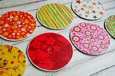 DIY: recycler des CD pour fabriquer des sous verres
