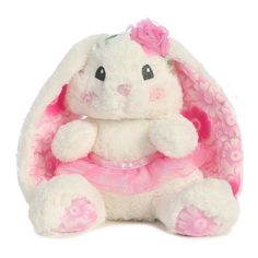 Lopsie Wopsie Tutut Cutie White Bunny sits 10 inches tall.  Super soft and easy to cuddle. #ShelburneCountryStore - Lopsie Wopsie Tutut Cutie White Bunny, $12.95 (http://www.shelburnecountrystore.com/lopsie-wopsie-tutut-cutie-white-bunny/)