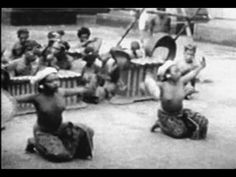 Balinese dancers and gamelan orchestra 1920-36