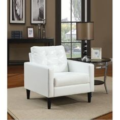 White Leather Chair For Living Room. White Sofa Design Ideas Pictures For Living Room. Home and Family Living Room Chairs, Living Room Furniture, Sofas, Armchairs, Upholstered Accent Chairs, Chair Upholstery, Acme Furniture, Paint Furniture, Furniture Removal