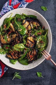Grilled Eggplant and Spinach Salad   Salt & Lavender   Bloglovin'