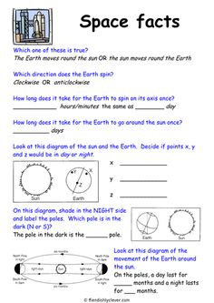 Download this worksheet about Earth and space, focusing on days and times in space for use on #EarthDay