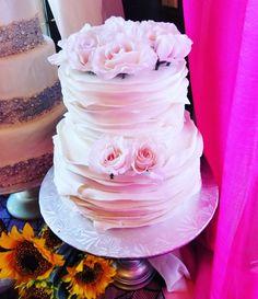 Romantic fondant ruffled wedding cake #carinaedolce www.carinaedolce.com www.facebook.com/carinaedolce Fondant Ruffles, Wedding Stuff, Wedding Cakes, Romantic, Facebook, Desserts, Food, Wedding Ideas, Wedding Gown Cakes