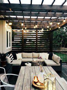 Patio Pergola Design Ideas Wendy Correen Smith: Our New Cedar Deck; Modern Patio Design, Design Patio, Backyard Patio Designs, Patio Ideas, Modern Deck, Garden Design, Backyard Ideas, Modern Backyard, Garden Ideas