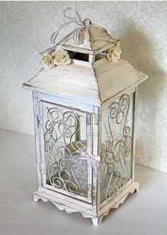 Wedding Lantern Centerpiece. 10in. Vintage by DazzlingGRACE